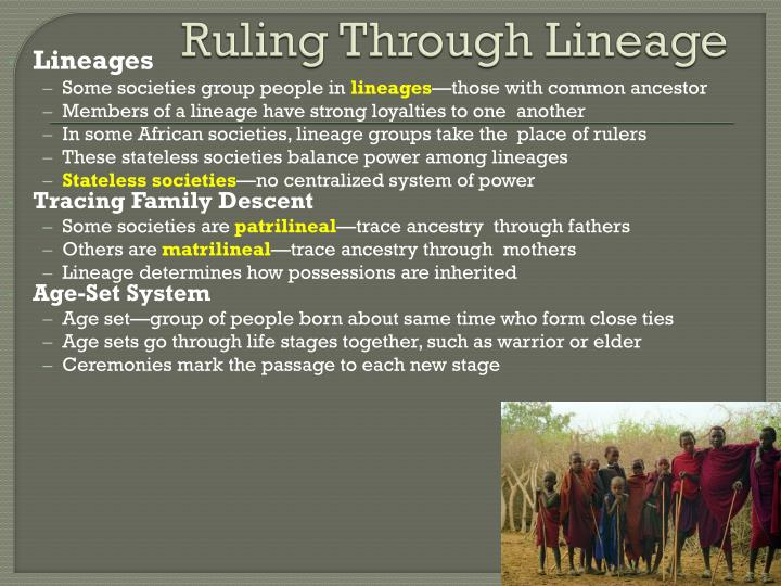 Ruling Through Lineage