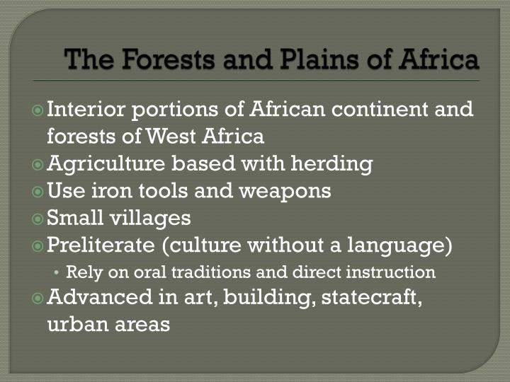 The Forests and Plains of Africa