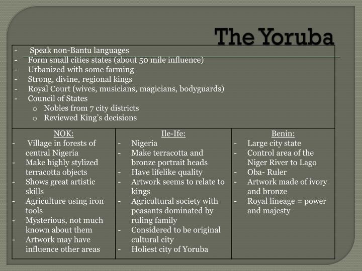 The Yoruba