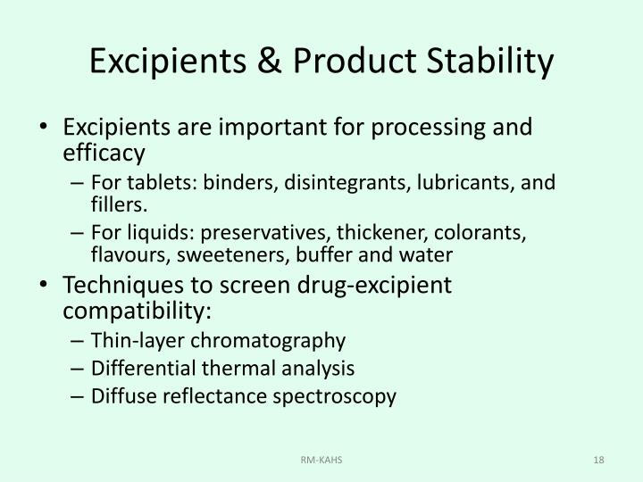 Excipients & Product Stability