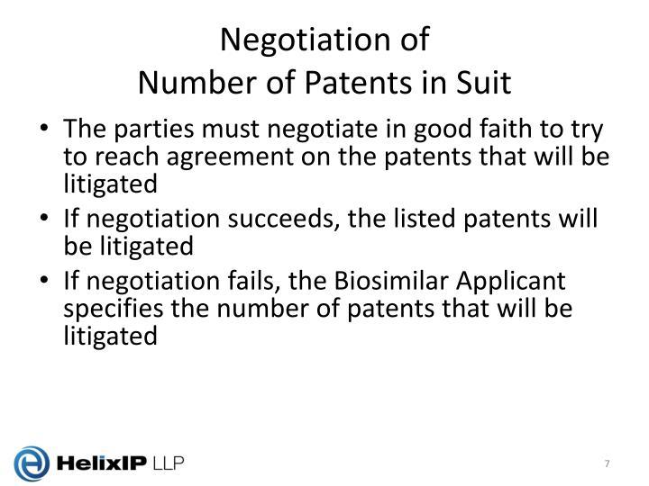 Negotiation of