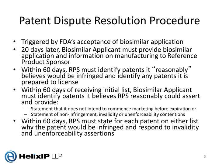 Patent Dispute Resolution Procedure