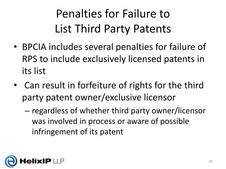 Penalties for Failure to