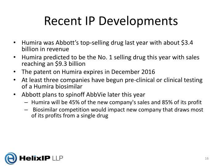 Recent IP Developments