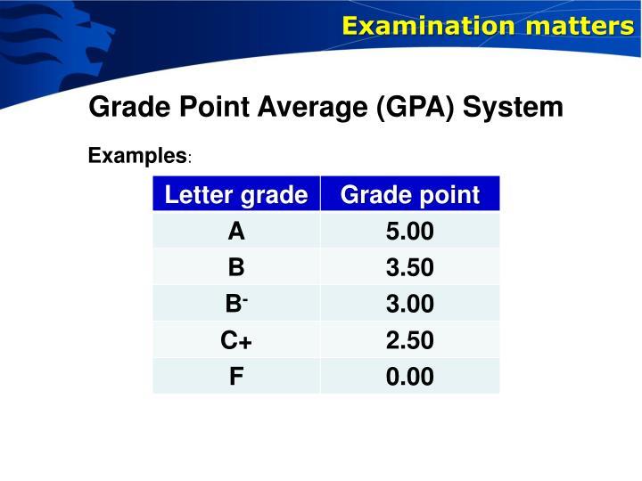 Examination matters