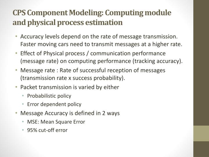 CPS Component Modeling: