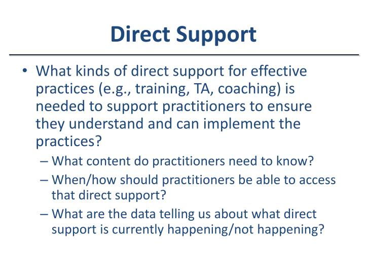 Direct Support