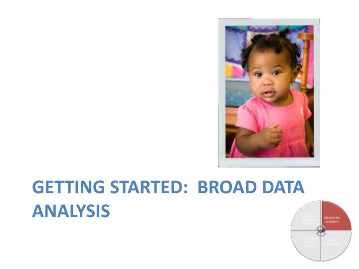 Getting Started:  Broad Data Analysis