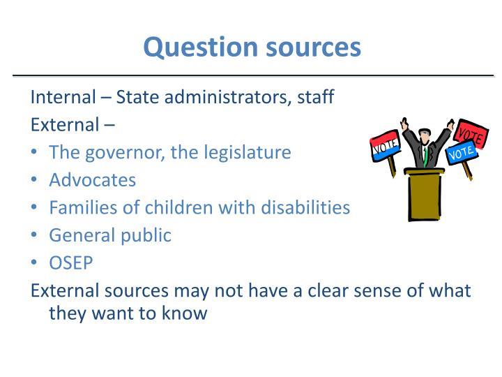 Question sources