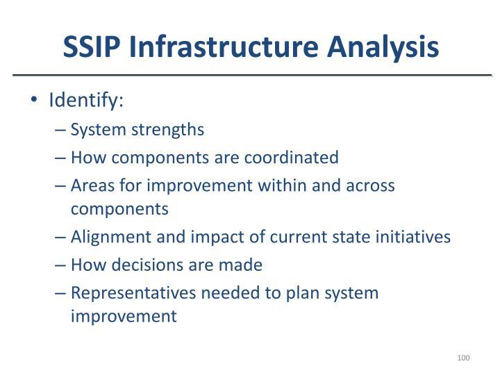 SSIP Infrastructure Analysis