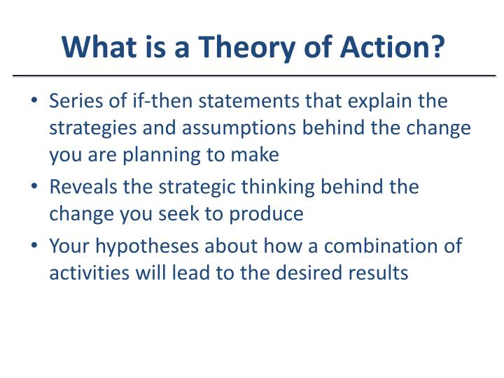 What is a Theory of Action?