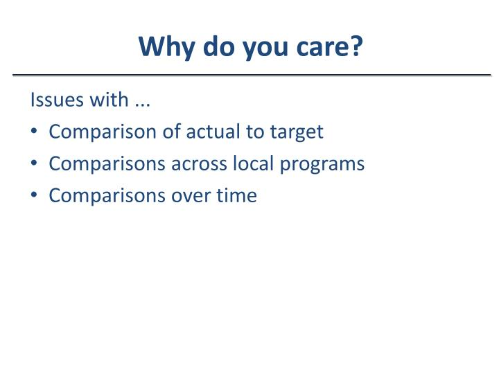 Why do you care?