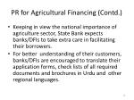 pr for agricultural financing contd9