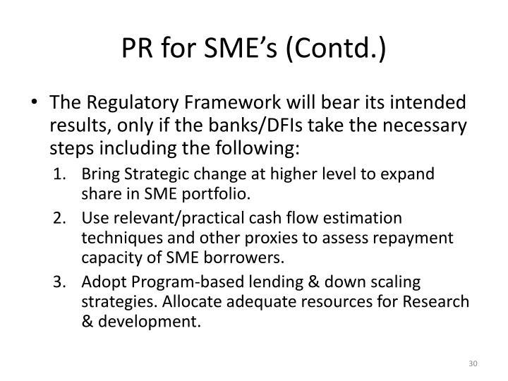 PR for SME's (Contd.)