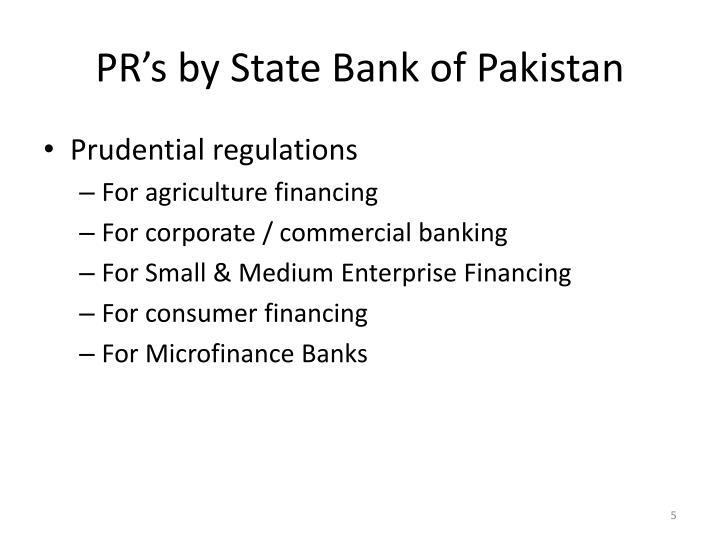 PR's by State Bank of Pakistan