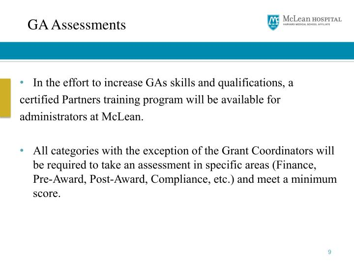 GA Assessments