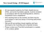 new award setup fcoi impact1