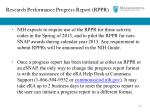 research performance progress report rppr1