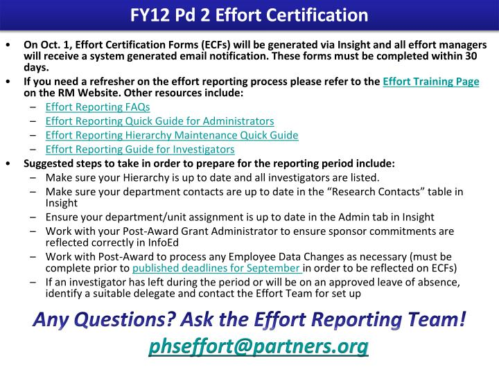 FY12 Pd 2 Effort Certification