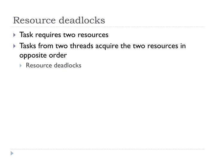 Resource deadlocks