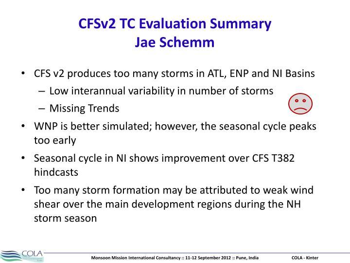 CFSv2 TC Evaluation Summary
