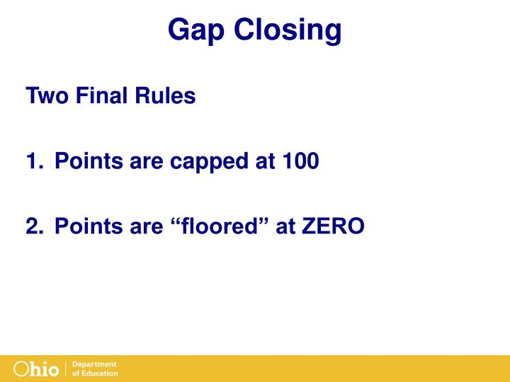 Gap Closing