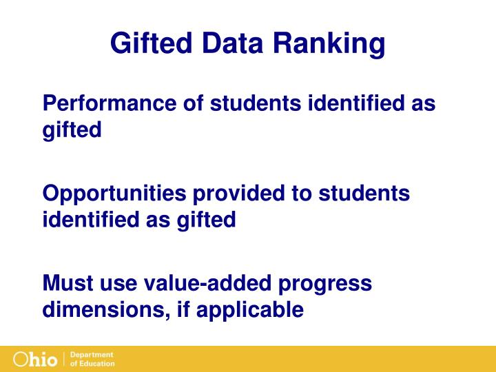 Gifted Data Ranking