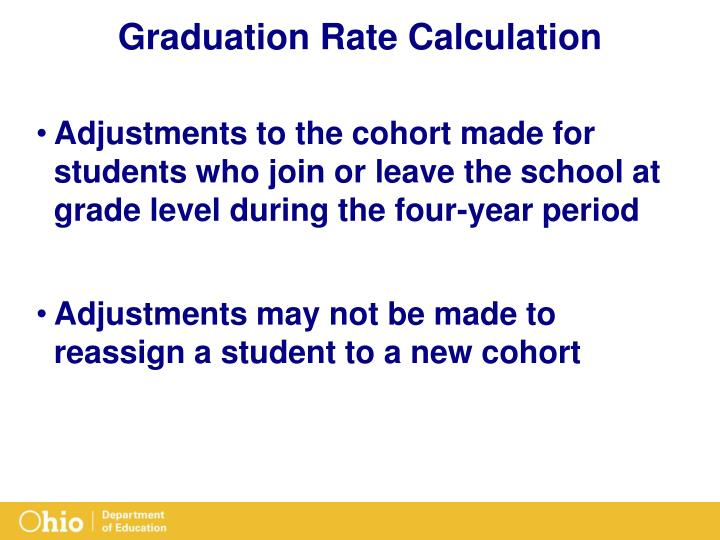 Graduation Rate Calculation