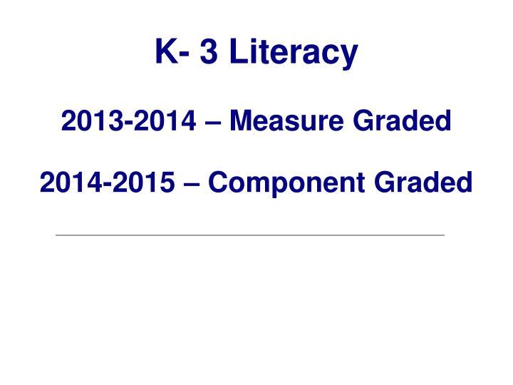 K- 3 Literacy