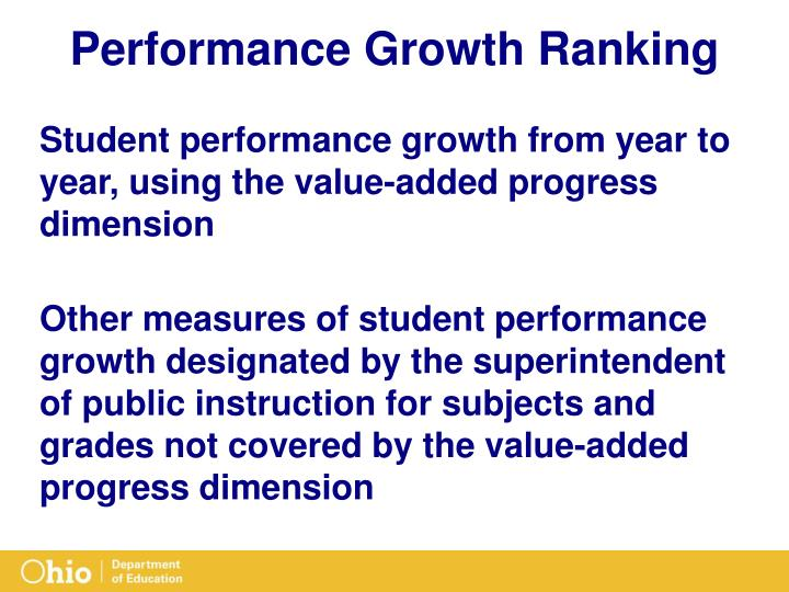 Performance Growth Ranking