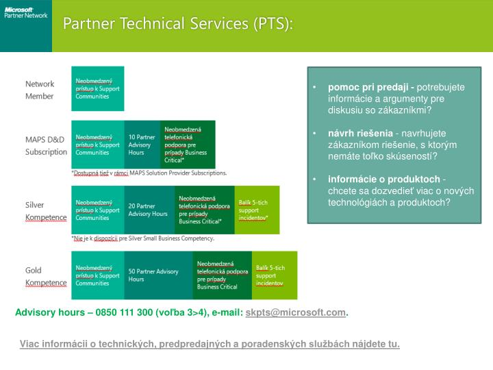 Partner Technical Services (PTS):