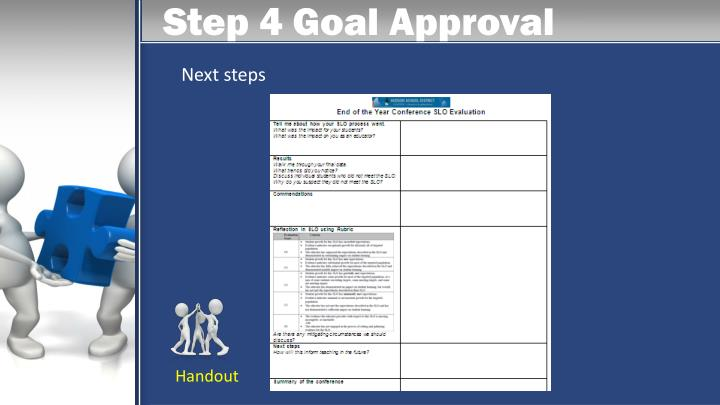 Step 4 Goal Approval