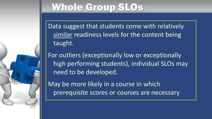 Whole Group SLOs