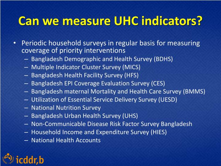 Can we measure UHC indicators?