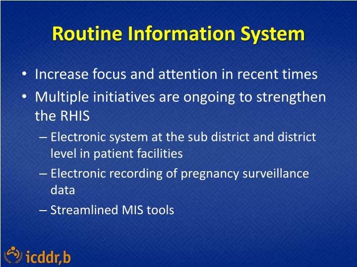 Routine Information System
