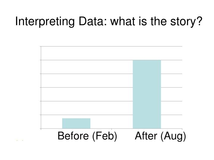 Interpreting Data: what is the story?