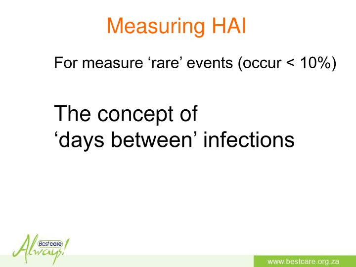 Measuring HAI