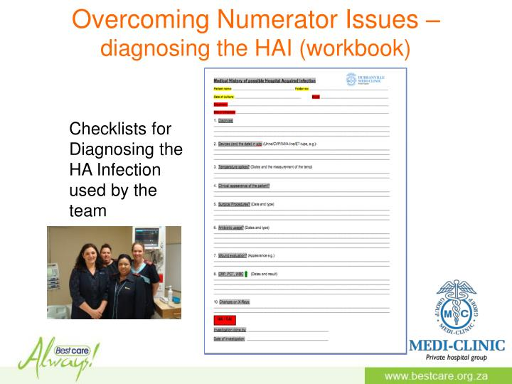 Overcoming Numerator Issues –