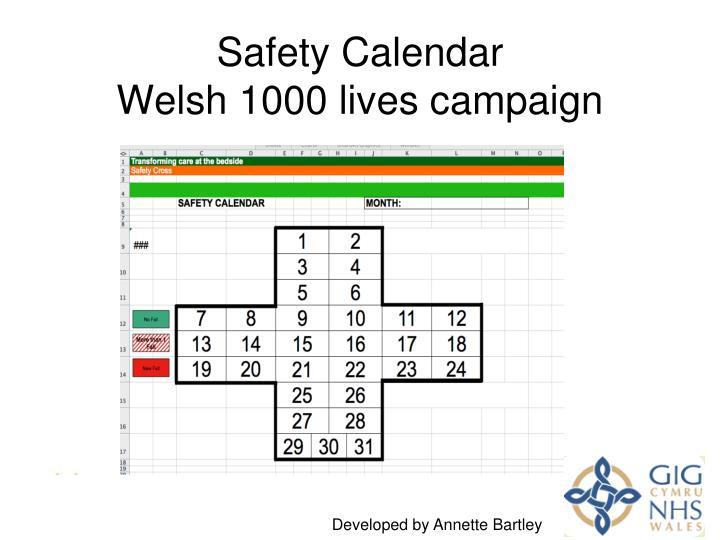 Safety Calendar