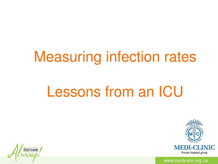 Measuring infection rates