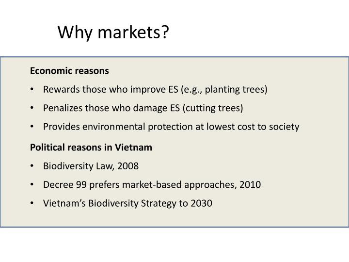 Why markets?