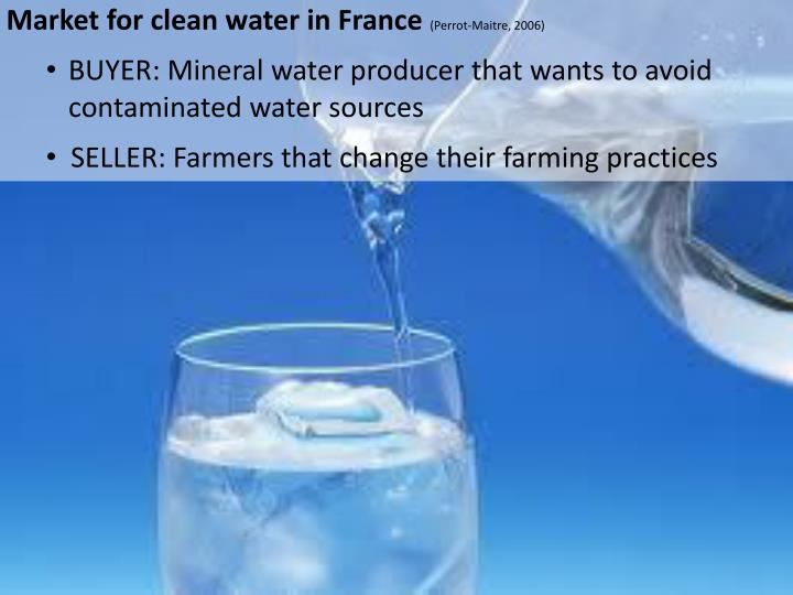Market for clean water in France