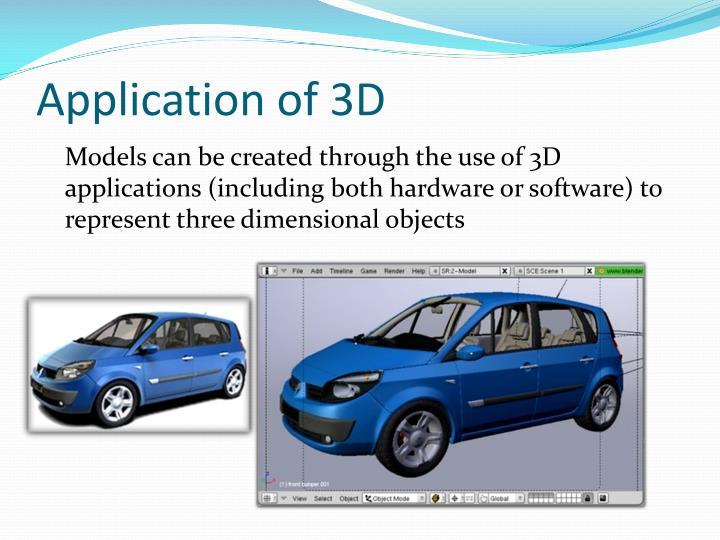 Application of 3D