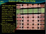 gates of the most holy1