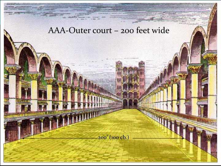 AAA-Outer court – 200 feet wide