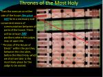 thrones of the most holy