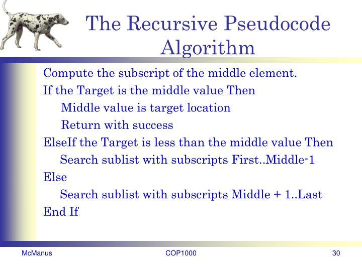 The Recursive