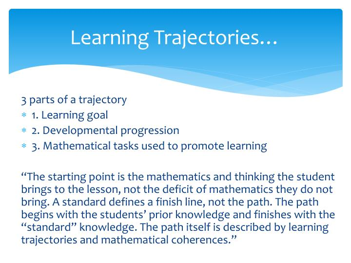 Learning Trajectories…