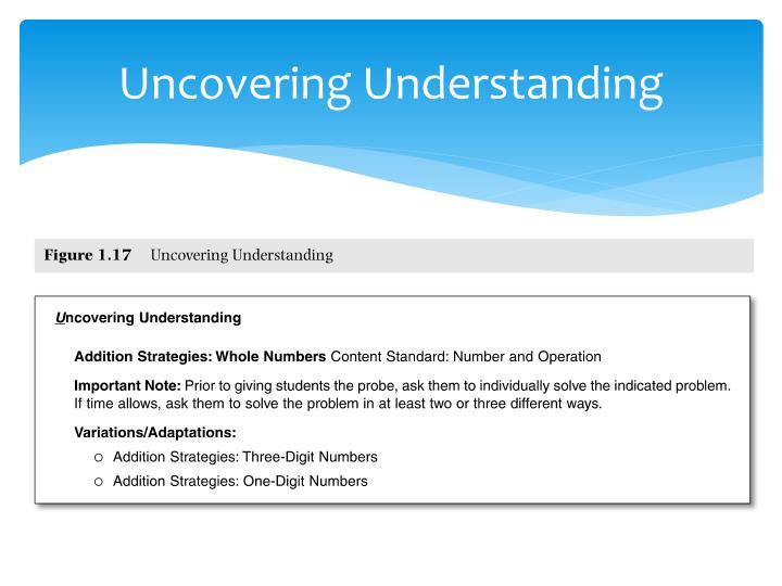 Uncovering Understanding
