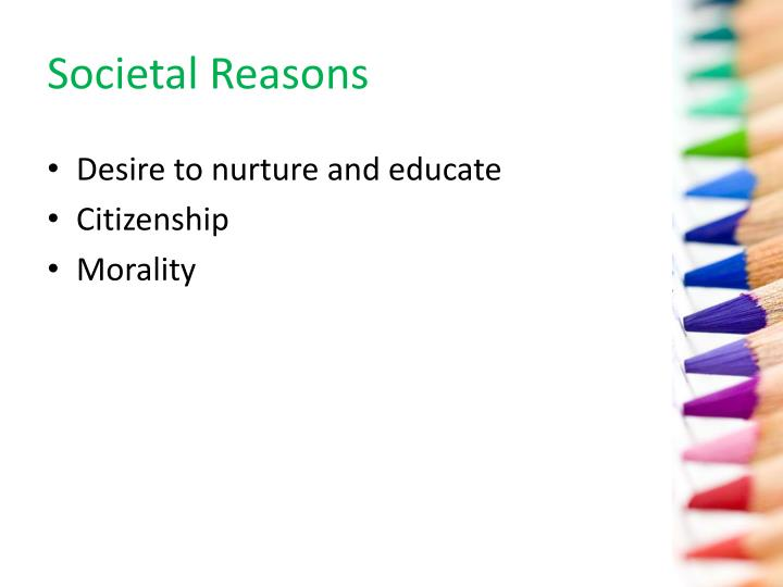Societal Reasons